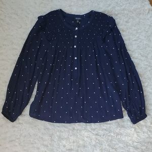 A.n.a a new approach polkadot navy Petite small